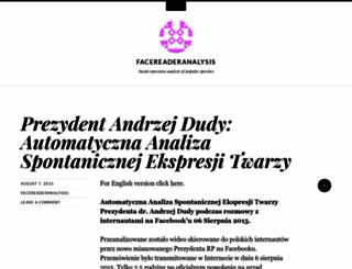 facereaderanalysisblog.wordpress.com screenshot