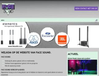 facesound.nl screenshot