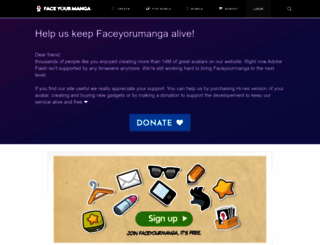 faceyourmanga.com screenshot