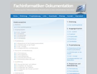fachinformatiker-dokumentation.de screenshot