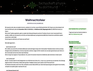 fachschaft-physik.tu-dortmund.de screenshot