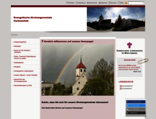fachsenfeld-evangelisch.de screenshot