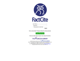 factcite.com screenshot