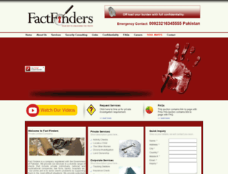 factfinders.com.pk screenshot