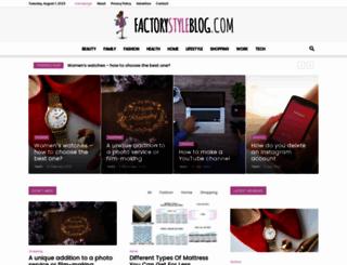 factorystyleblog.com screenshot