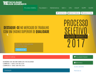 faculdadedondomenico.edu.br screenshot