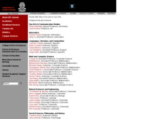 faculty.uscupstate.edu screenshot
