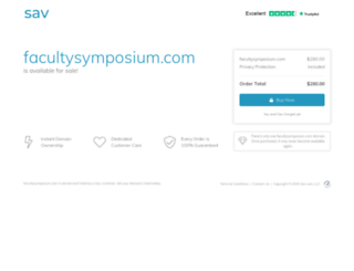 facultysymposium.com screenshot