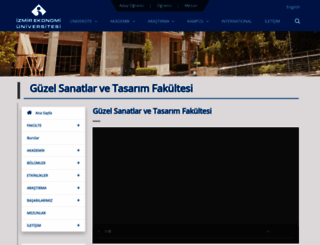 fadf.ieu.edu.tr screenshot