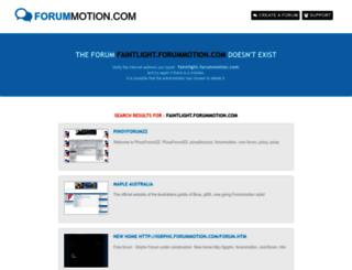 faintlight.forummotion.com screenshot