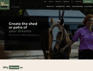 fairdinkumsheds.com.au screenshot
