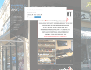 fairfieldcigar.com screenshot