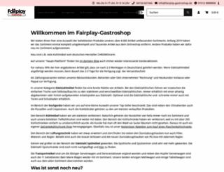 fairplay-gastroshop.de screenshot