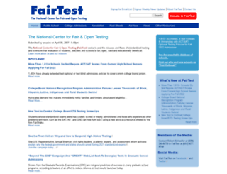 fairtest.org screenshot