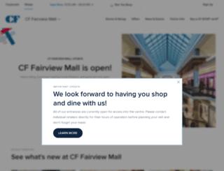 fairviewmall.ca screenshot