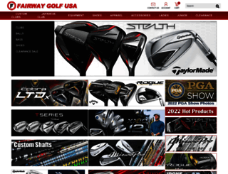 fairwaygolfusa.com screenshot
