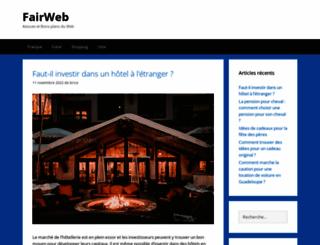 fairweb.fr screenshot