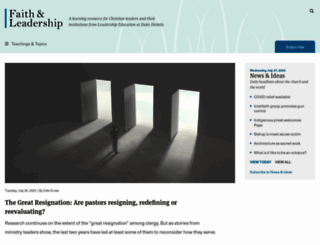 faithandleadership.com screenshot