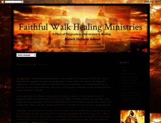 faithfulwalkhealingministries.com screenshot