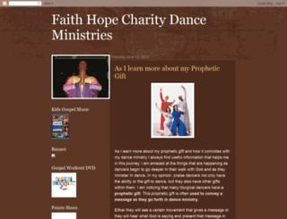 faithhopecharitydanceministries.blogspot.com screenshot
