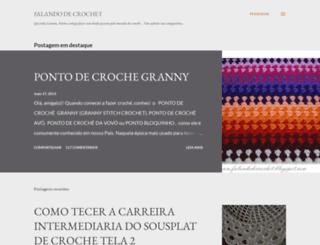falandodecrochet.blogspot.pt screenshot