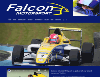 falconmotorsport.com screenshot