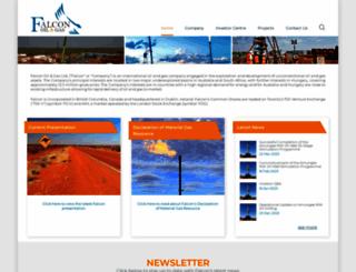 falconoilandgas.com screenshot