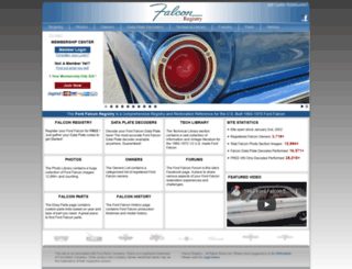 falconregistry.com screenshot