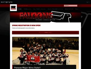 falconshockey.org screenshot