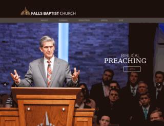 fallsbaptist.org screenshot