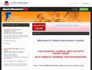 fallstonrec.sportssignupapp.com screenshot