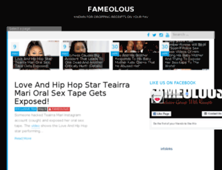 fameolous.com screenshot