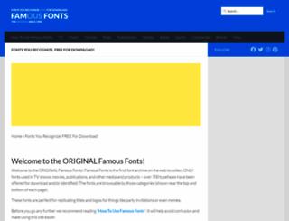 famfonts.com screenshot