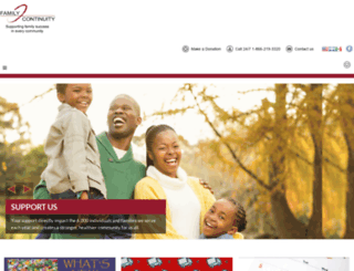 familycontinuity.org screenshot