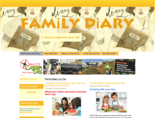 familydiary.co.za screenshot
