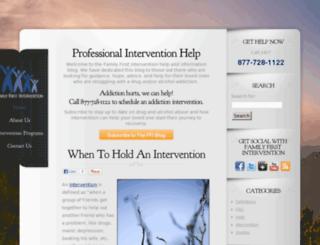 familyfirstintervention.com screenshot