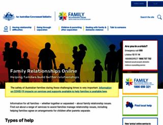 familyrelationships.gov.au screenshot