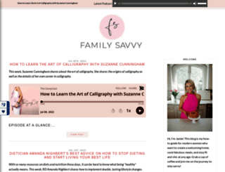 familysavvy.com screenshot