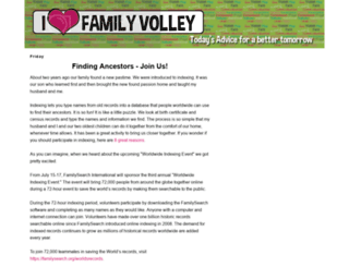familyvolley.com screenshot