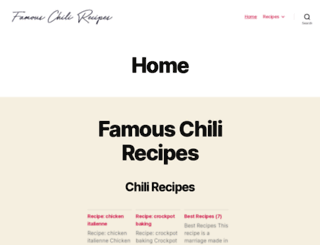 famouschilirecipes.com screenshot