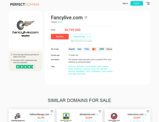 fancylive.com screenshot