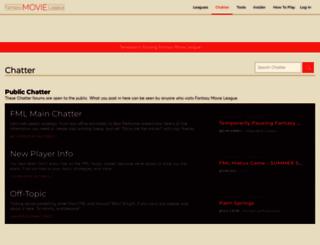 fantasymovieleague.com screenshot