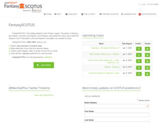 fantasyscotus.lexpredict.com screenshot