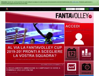 fantavolley.legavolleyfemminile.it screenshot
