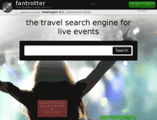 fantrotter.com screenshot