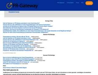 faq.pr-gateway.de screenshot