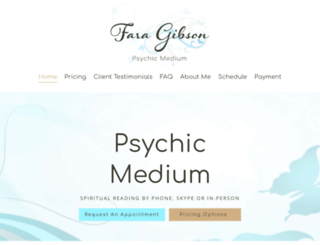 faragibsonpsychicmedium.com screenshot