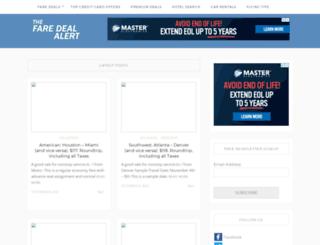 faredealalert.com screenshot