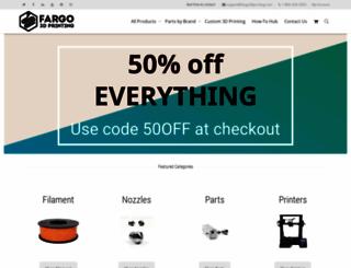 fargo3dprinting.com screenshot