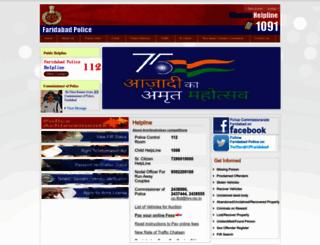 faridabad.haryanapolice.gov.in screenshot